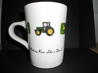 "RARE John Deere Coffee Mug ""Nothing Runs Like A Deere!"" Excellent Condition"