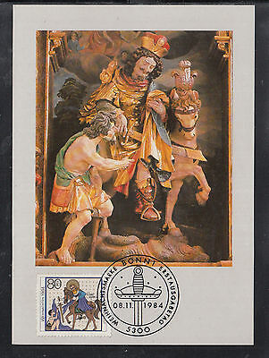 A-70) beautiful Maxi Card MC MK Germany 1984 - Sankt Martin