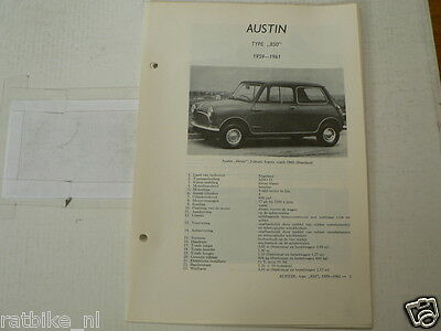 Aus11--Austin Type 850 Seven Mini 1959-1961  ,technical Info Car Vintage