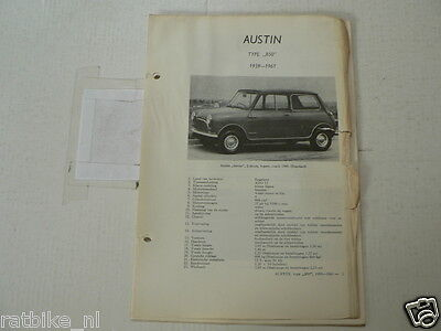 Aus11A--Austin Type 850 Seven Mini 1959-1961  ,technical Info Car Vintage