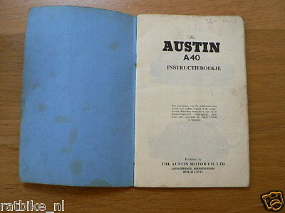 Austin A40 Saloon And Countryman Instructie Book,