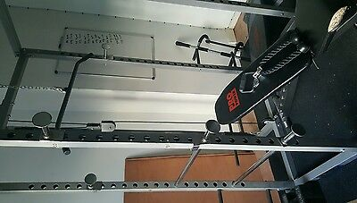 squat rack and weight bench power cage