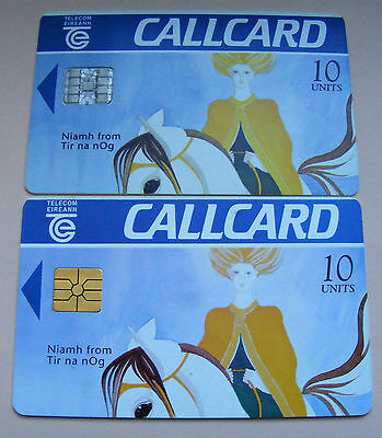 Pair Of Irish Phone Cards - Niamh Callcard 10 Units Two Different Chips Lot#367