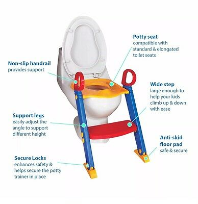 USED Baby Toddler Foldable Kid Toilet Step Anti Slip Potty Trainer (Age 1+)