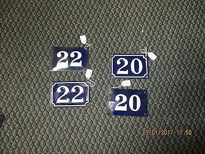 Enamel  House Numbers (67) (68) (69) (70)