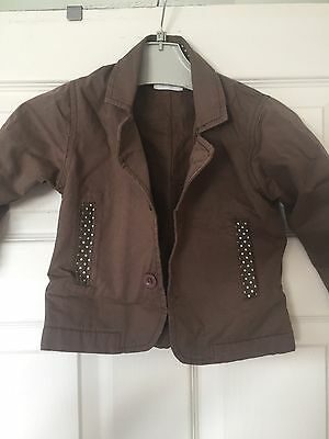 Brown Bamboo Baby Jacket 1-2 Years
