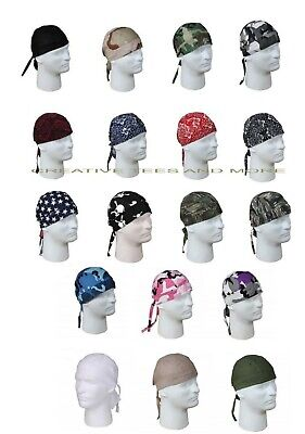 Biker Cotton Headwrap Skull Cap Military Patterns Do-Rag Bandana Beanie Rothco