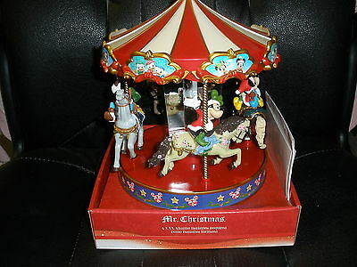 NEW Mr Christmas Disney Mickey & Minnie Mouse Animated Carousel