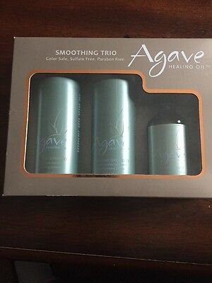 Bio Ionic Agave Smoothing Trio Shampoo, Conditioner & Healing Oil