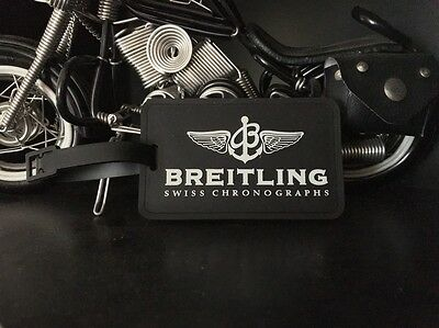 Breitling Swiss Chronographs Black Thick Rubber Bag Tag Identity Card NEW c.2001