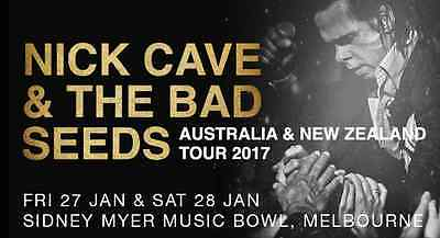 Nick Cave | 1x Ticket | SAT 28 JAN 2017 | MELBOURNE | Front GA Stalls Row-S