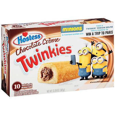 Hostess CHOCOLATE CREME Filled Twinkies 10 per box with Free2 day shipping!