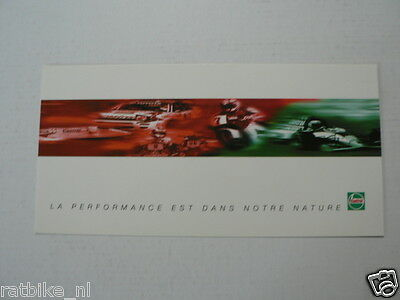 Castrol Racing La Performance Auriol,louvel,rainey,cadalora Infocard-Postcard