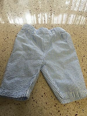 CHAPS Blue And White Striped Pants, Boys, Size 3 Months, Infant Baby