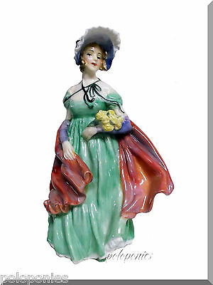 ROYAL DOULTON Lady April Figurine (green) HN1965 - Retired 1949