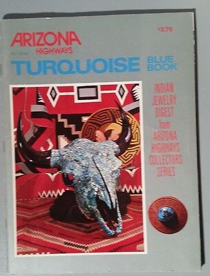 TURQUOISE BLUE BOOK - Arizona Highways - 1975 - FINE Condition!