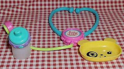 Baby Alive Non Magnetic Sippy yellow Plate/ Bowl  Stethoscope