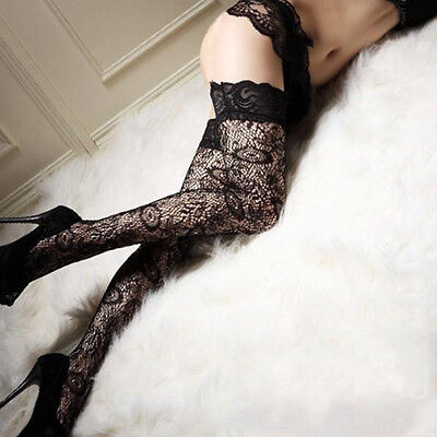 Sheer Lace Top Thigh High Stockings nylon hosiery Stay Up silicone stockings