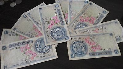 Singapore $1 1972 Orchid notes x 10  (Lot 2)
