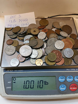 1 Pound Mixed Foreign Coins  Lot #3