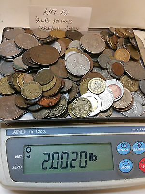 2 Pound Mixed Foreign Coins  Lot #16