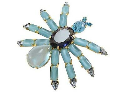 Vintage Large Jelly Belly Style Spider Bug Brooch Pin Cabochon Art Glass R/s