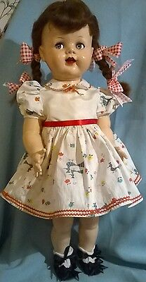 """VTG 1950's IDEAL SAUCY WALKER DOLL.22"""".VINTAGE CLOTHES. VG.COND. CUTE!"""