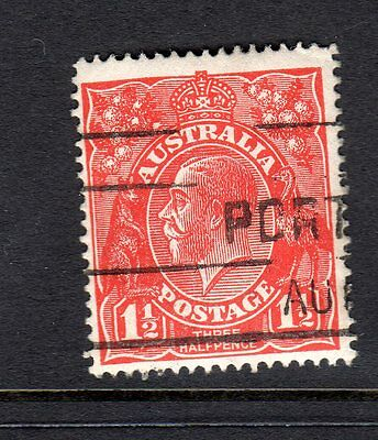 KGV  11/2D RED VARIETY EIGHT WATTLES 1ST STATE   BW 89(22)s  FINE USED