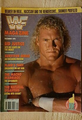 WWF WWE Wrestling Magazine December 1991 Sid Justice Cover