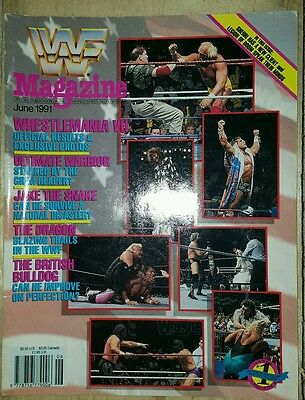 WWF WWE Wrestling Magazine June 1991 Hulk Hogan WrestleMania 7 Cover