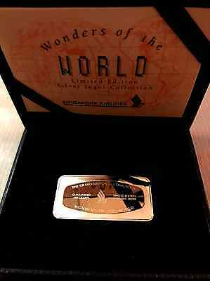 Singapore Airlines Silver Ingot Wonders of the World Grand Canyon Edition