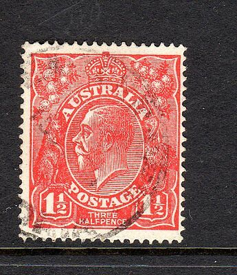 KGV  11/2D RED VARIETY FRACTION BAR AT RIGHT RECUT BW 89(14)j FINE USED