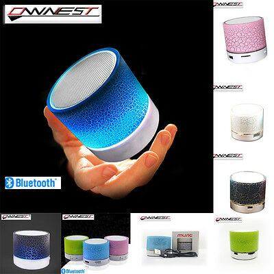 Bluetooth+ LED Light Wireless Mini Portable Speaker Bass for MP3 iPhone iPad