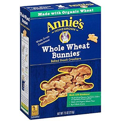 Annie's Homegrown Whole Wheat Bunnies Baked Snack Crackers,