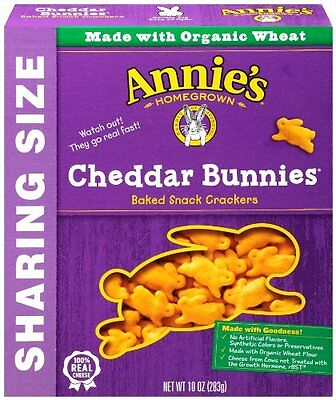 Annie's Homegrown Cheddar Bunnies Baked Snack Crackers, Orig