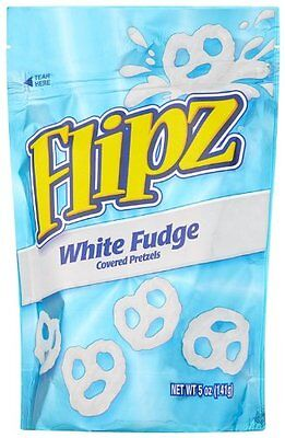 Flipz Pretzels, White Fudge, 5-Ounce Packages (Pack of 12)