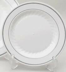 "Masterpiece Silver Collection 10.25"" Disposable Dinner Plate"