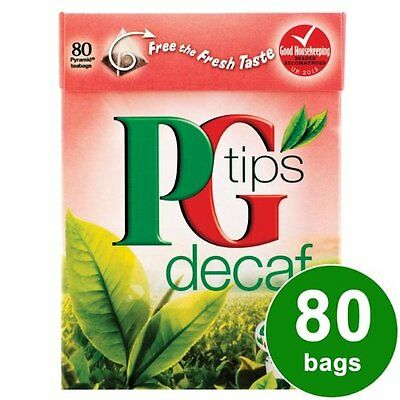 PG Tips Pyramid Tea Bag Decaf, 80 Count Tea Bag