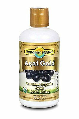 Dynamic Health Acai Gold- 100% Pure Organic Certified Acai J