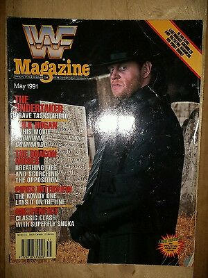 WWF WWE Wrestling Magazine May 1991 The Undertaker and Hulk Hogan Cover