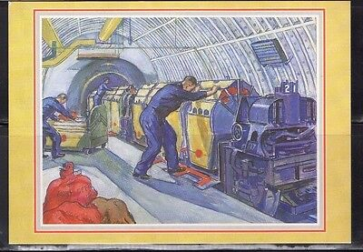 Loading Mail On Post Office Railway Postal Museum Postcard From Collection A1