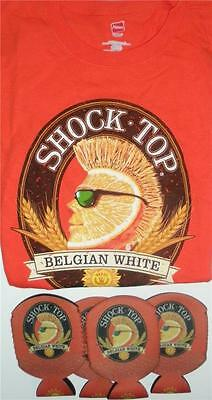 SHOCK TOP T-Shirt Mens Choose Size XL or Medium 4 can Coolers Belgian White Beer
