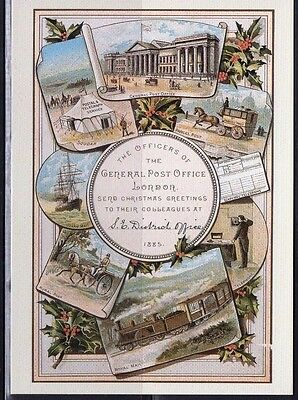 1883 Gpo Christmas Card Postal Museum Postcard From Collection A4