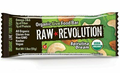 Raw Revolution Organic Live Food Bar - Spirulina Dream, 1.8-
