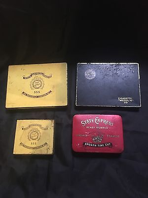 vintage tobacco tins X4  State Express/Players