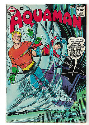 AQUAMAN comic DC 15  justice league superman FN+ 1964 Aqua lad