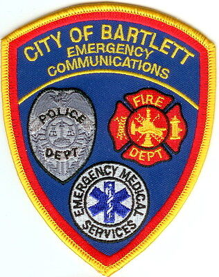 City of Bartlett Emergency Communications Police Patch TN NEW!!