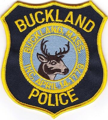 Buckland Police Massachusetts patch NEW