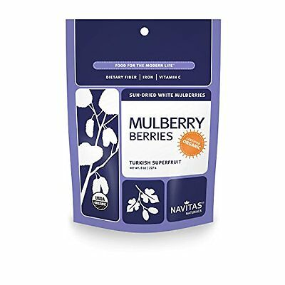 Navitas Naturals Organic Mulberries, 8-Ounce Pouch