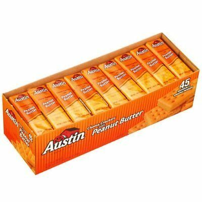 Austin Cheese Crackers w/ Peanut Butter 45ct (2 Pack) - Tota